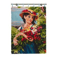 """Wandbehang """"Mädchen mit Blumenstrauß"""""""