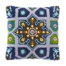 Kissen, Grundfarbe Blau