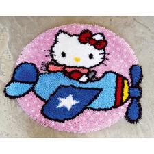 "Formteppich - Hello Kitty als Pilotin Formteppich ""Hello Kitty als Pilotin"""