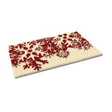 Fußmatte - Schneeflocken, rot Weihnachtliche Fußmatte.