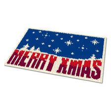 Fußmatte - Merry Xmas Weihnachtliche Fußmatte.