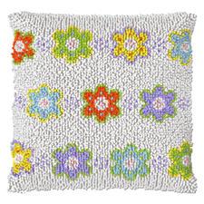 Knüpfkissen - Blumen