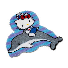 "Formteppich - Hello Kitty mit Delfin Formteppich ""Hello Kitty mit Delfin"""