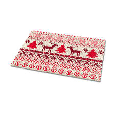 """Fußmatte """"Falster"""" Weihnachtliche Fußmatte."""