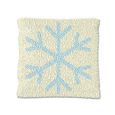 """Knüpfkissen """"Eiskristall 2"""" Let it snow"""