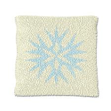 """Knüpfkissen """"Eiskristall 3"""" Let it snow"""