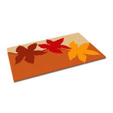 """Kreuzstich-Fußmatte """"Herbst"""" Jetzt neu – gestickte Fußmatten."""