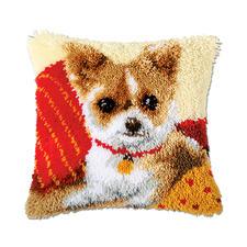 """Knüpfkissen """"Chihuahua"""" Knüpfkissen - schnell zu knüpfen, ideal für Anfänger."""