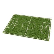 """Fußmatte """"Fußballfieber"""" Anpfiff zum Start der Fußball EM 2016."""