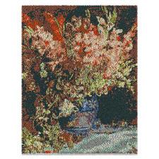Wandbehang - Gladiolen Wandbehang Gladiolen- nach einem Gemälde von Renoir aus Reiner Schurwolle.