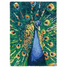 """Wandbehang """"Pfau"""" Dekorative Wandbehänge aus Reiner Schurwolle."""