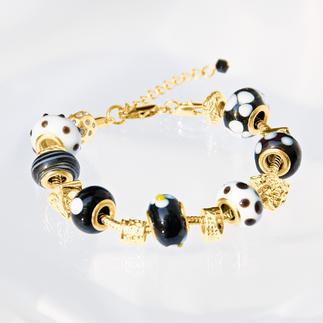 Bijou-Armband, Schwarz-Weiß Bijou-Armbänder