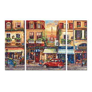 Malen nach Zahlen - Triptychon Paris Nostalgie Malen nach Zahlen.