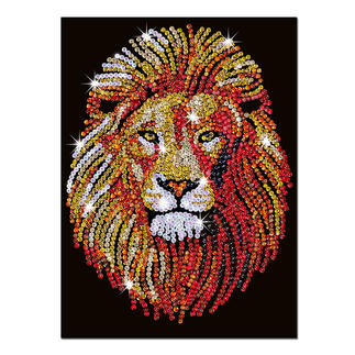 Paillettenbild für Erwachsene - Löwe Paillettenbilder mit eindrucksvollen Motiven