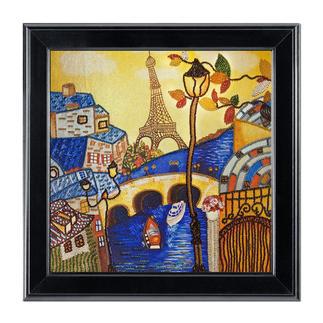 "Bead-Art-Bild ""Frühling in Paris"" Bead Art – Bilder mit edlem Perlen-Effekt."