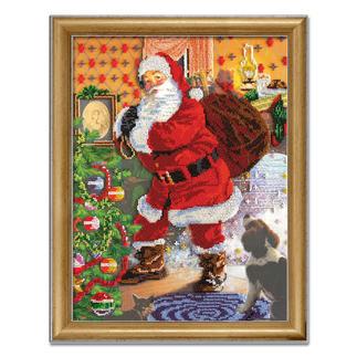 Bead-Art-Bild - Weihnachten Bead Art – Bilder mit edlem Perlen-Effekt.