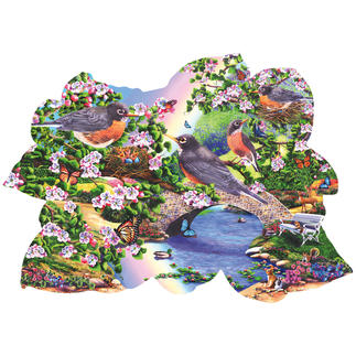 Puzzle - Rotkehlchen im Park Puzzeln - Ein Spaß für die ganze Familie – spannend und entspannend zugleich.