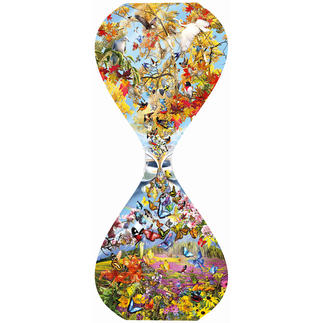 Puzzle - Schmetterlinge & Vögel