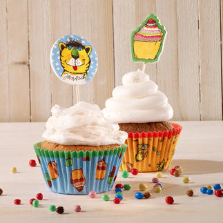 Cupcake Deko-Set - Janosch Cupcakes - süße Verführer im bunten Gewand