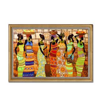 Bead-Art-Bild - African Beauties Bead Art – Bilder mit edlem Perlen-Effekt.