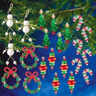 """XXL-Weihnachts-Set """"Traditionell"""" Glamouröser Perlen-Weihnachtsschmuck – in Komplettpackungen zum kreativen Selbermachen."""