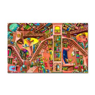 Puzzle - The Library nach Colin Thompson Meisterwerke großer Künstler als Puzzle