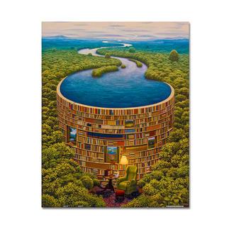 Puzzle - Bibliodame nach Jacek Yerka Meisterwerke großer Künstler als Puzzle.