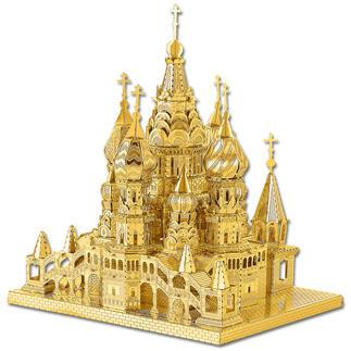 3D-Miniaturen - Basilius Kathedrale Hochwertige Edelstahl – Miniaturen in 3D. Jetzt auch in Gold und Silber.