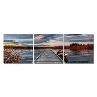 Malen nach Zahlen - Triptychon Sonnenaufgang am See Malen nach Zahlen.