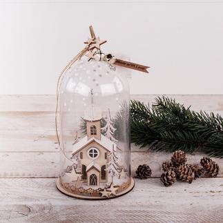 Weihnachtskirche Winterlandschaften als Minivitrinen