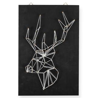 String Art - Hirsch String Art: Stylische Fadenkunst für Ihr Zuhause.