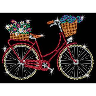 Paillettenbild für Erwachsene - Fahrrad Paillettenbilder mit eindrucksvollen Motiven