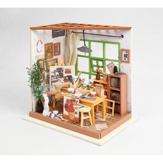 Anspruchsvolles Miniatur-Zimmer zum Selberbasteln