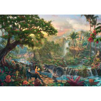 Puzzle - Disney: Das Dschungelbuch Puzzles nach Kunstwerken von Thomas Kinkade