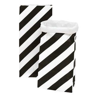 4 Paperbags im Set - Streifen/Punkte Schwarz 4 Paperbags im Set.