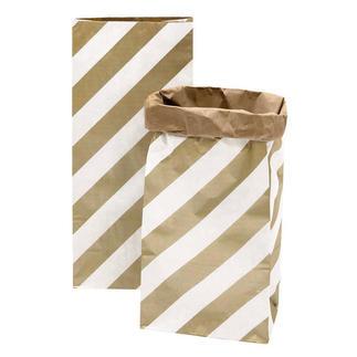 4 Paperbags im Set - Streifen/Punkte Goldfarben 4 Paperbags im Set.