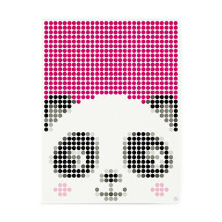 dot on art - Panda, 30 x 40 cm dot on art Klebeposter