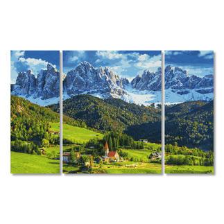 Malen nach Zahlen - Triptychon St. Magdalena in Südtirol Malen nach Zahlen.