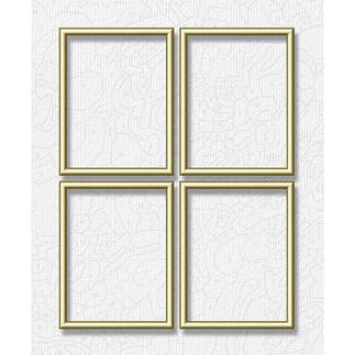 Alu-Rahmen für Malen nach Zahlen Bilder, Goldfarben, Quattro Hochwertige Alu-Rahmen für Ihre Meisterwerke.