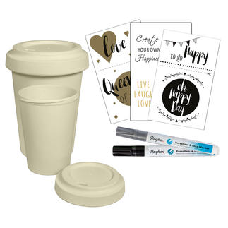 Bambus-Becher Spar-Set Coffee-to-go-Becher aus Bambus.
