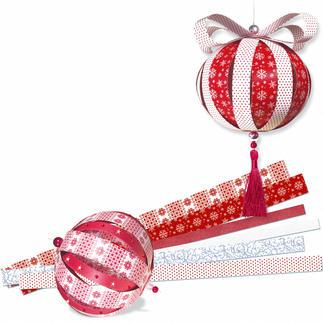Paper Balls mit weihnachtlichen Mustern Paper Balls - mit weihnachtlichen Mustern.