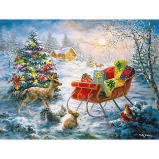 Puzzle - Weihnachten der Waldbewohner Ein Spaß für die ganze Familie – spannend und entspannend zugleich.