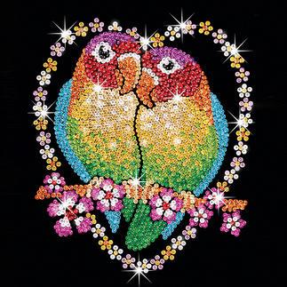 Paillettenbild für Erwachsene - Verliebte Vögel Paillettenbilder mit eindrucksvollen Motiven