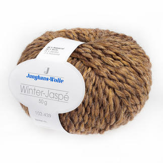 Winter-Jaspé von Junghans-Wolle, Senf