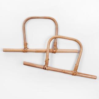 Steg-Taschengriffe, Bambus, 2 Stück