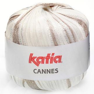 Cannes von Katia. Im Bändchengarn sind unterschiedliche Stärken.