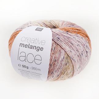 Creative Melange Lace von Rico Design - % Angebot %, Orange-Grün Creative Melange Lace von Rico Design - % Angebot %