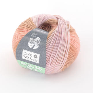 Cool Wool Baby Degradé von Lana Grossa - % Angebot %, Rosa/Lachs/Ocker