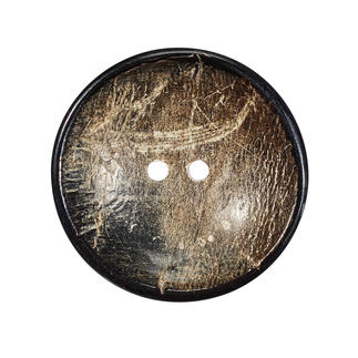 Jim Knopf - Knopf Horn Borke, Ø 35 mm, 1 Stück
