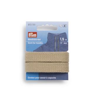 Prym Hoodiekordel, Beige, 17 mm breit, 1,5 m lang